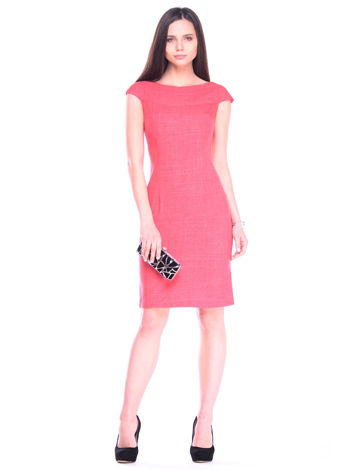 Сукня кольору червоний корал | 3258200