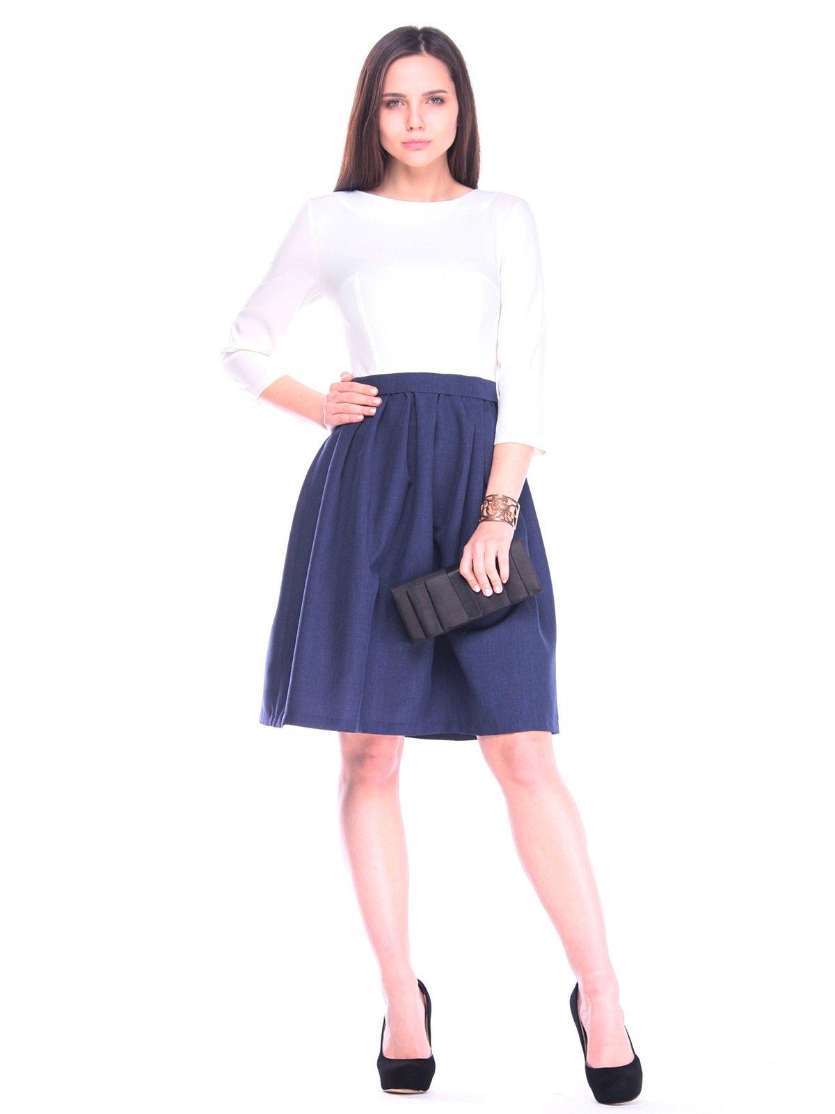 Платье бело-синее | 3258215