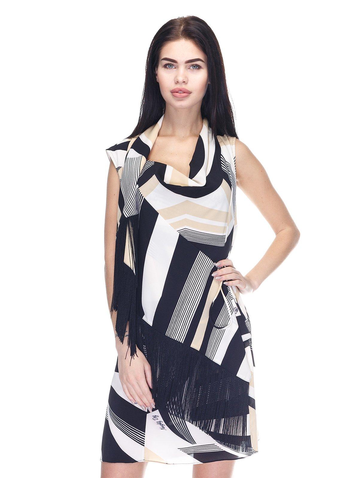 Платье черно-бежевое | 3276587