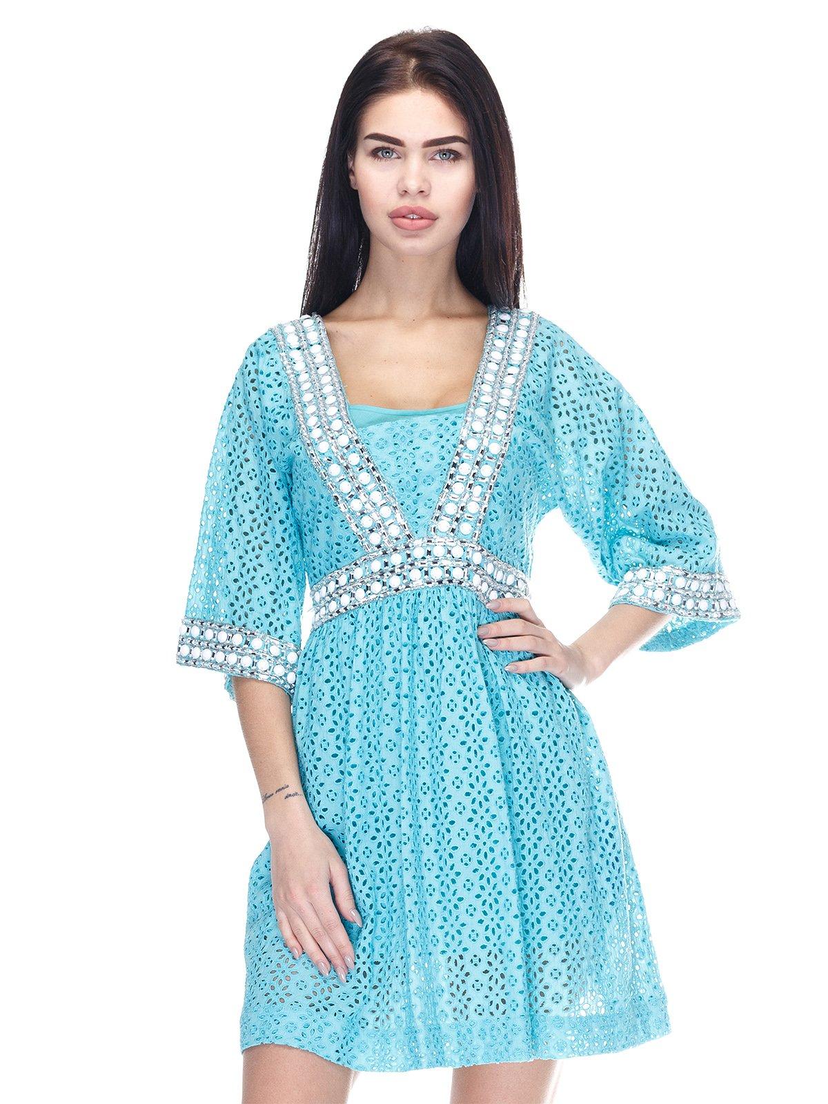 Платье бирюзовое | 3276594