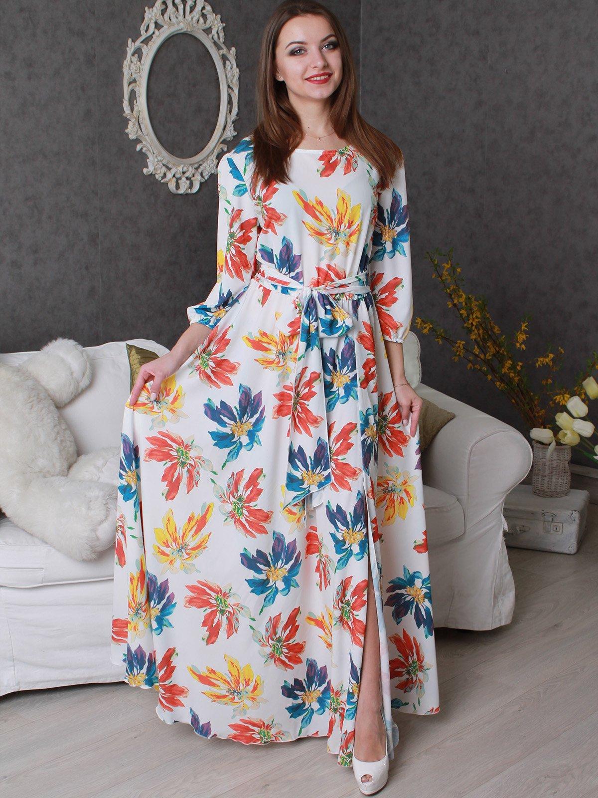 Платье в цветочный принт | 3313052
