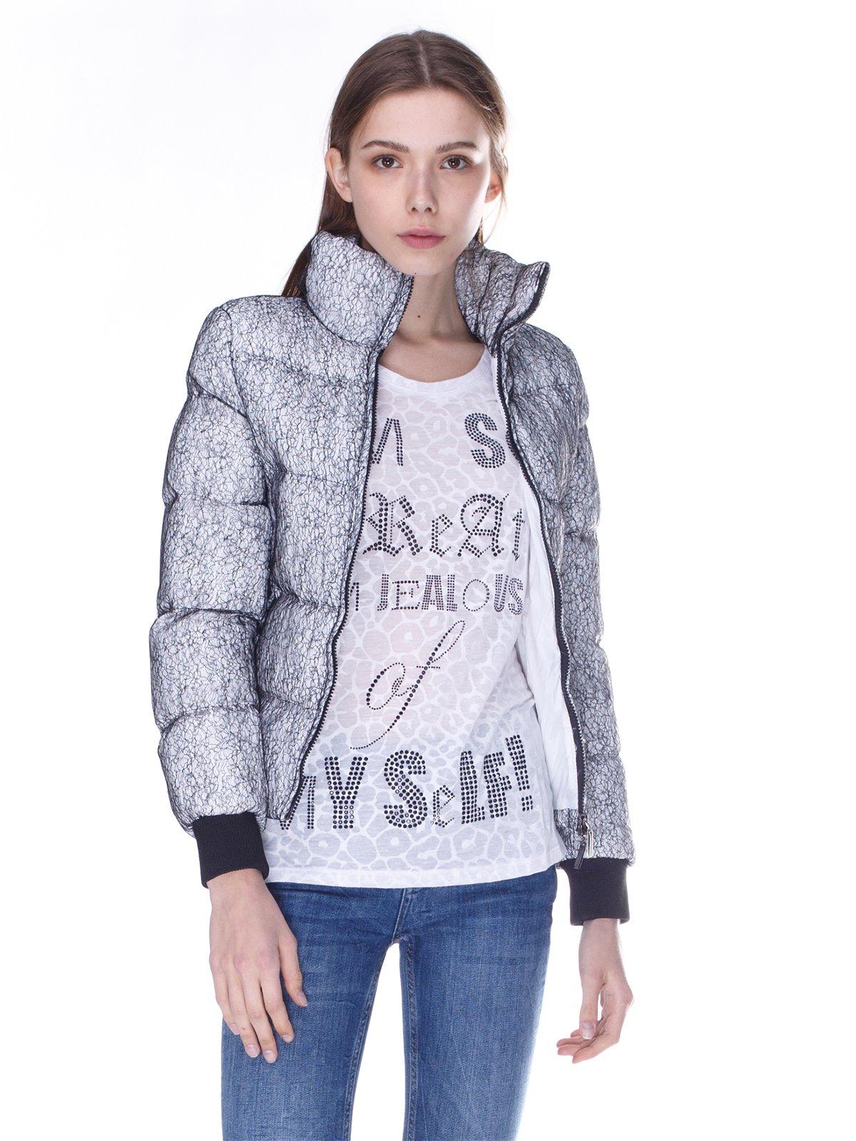 Куртка серо-белая   848911