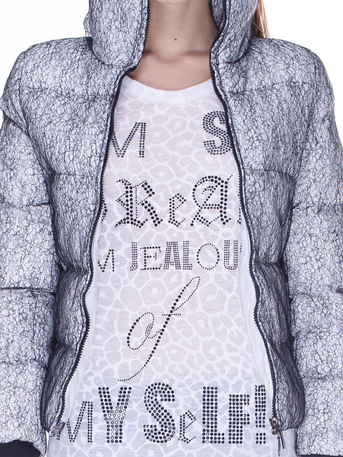 Куртка серо-белая   848911   фото 3