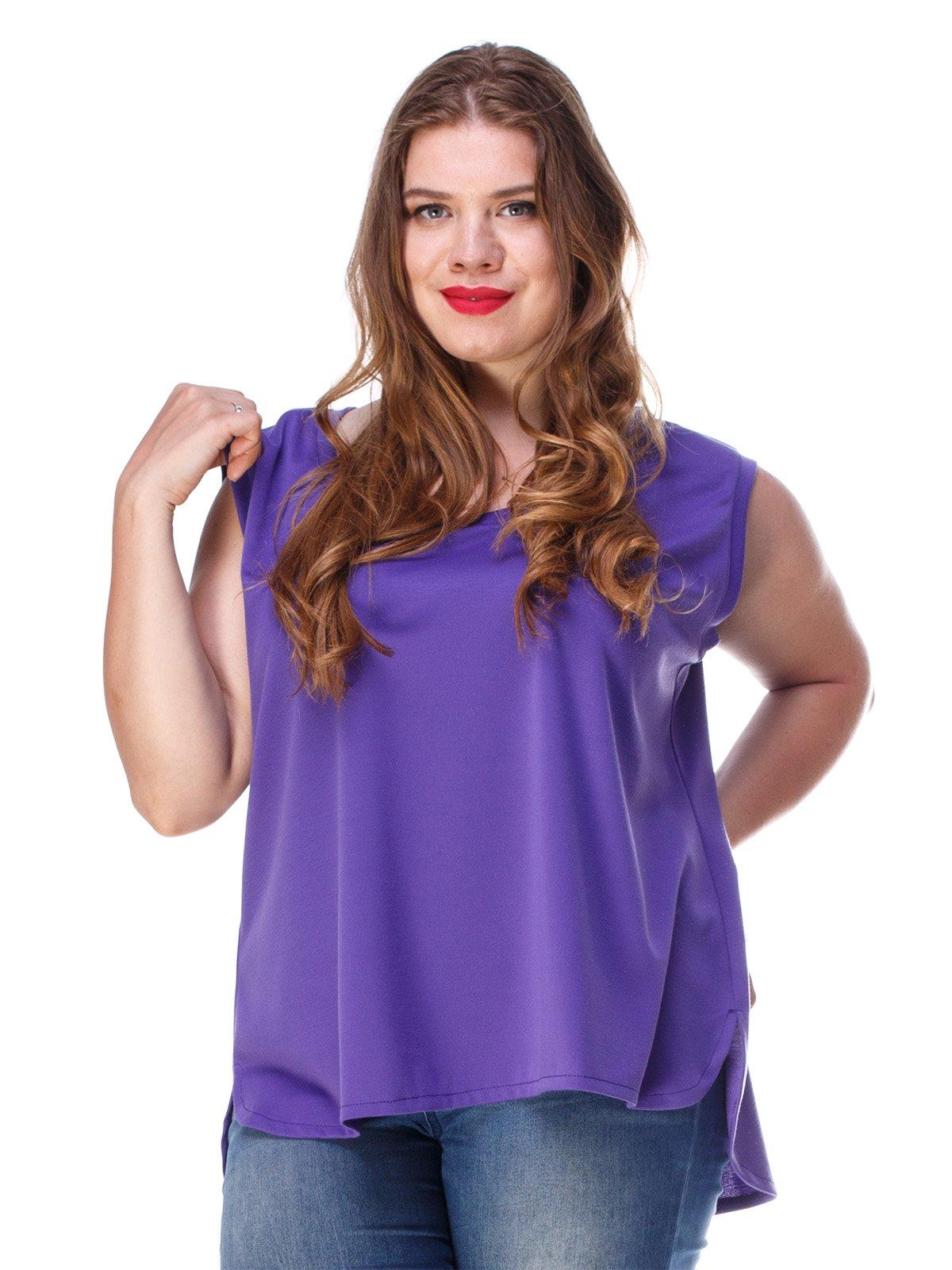 Майка фіолетова з асиметричним низом | 3278005