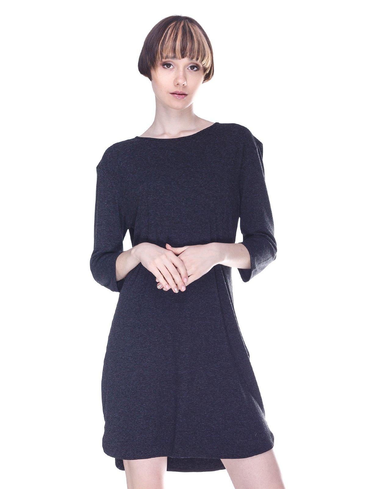 Платье цвета антрацит | 3008040