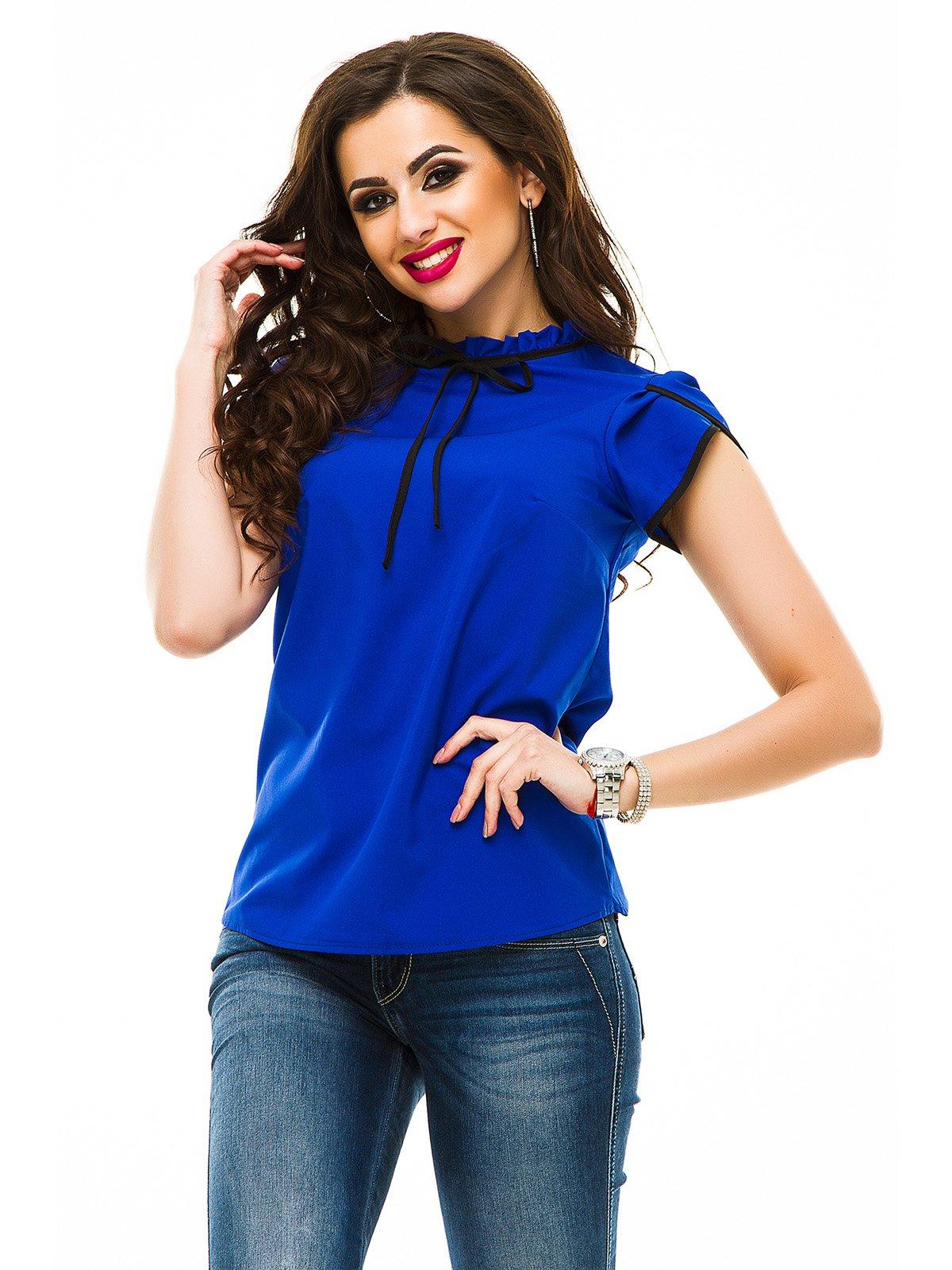 Блуза кольору електрик | 3323626