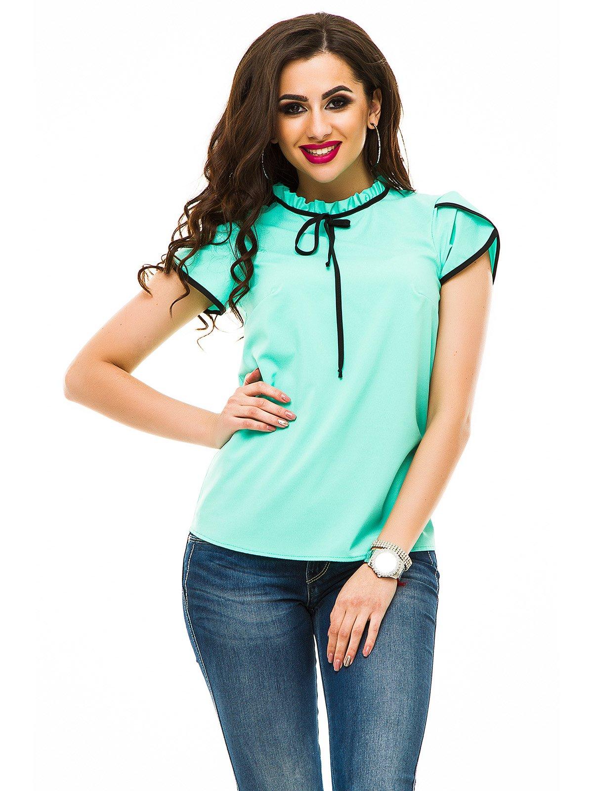Блуза кольору м'яти   3323628