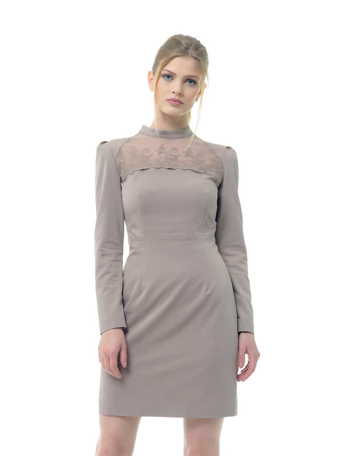 Платье серо-розовое | 3321976