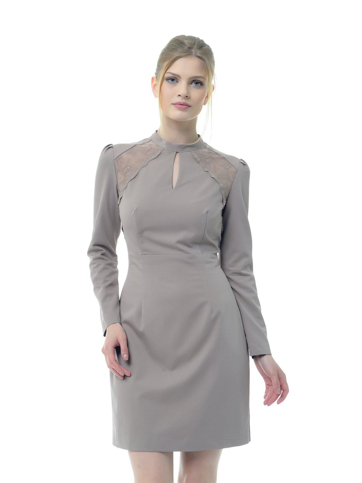 Платье серо-розовое | 3321977