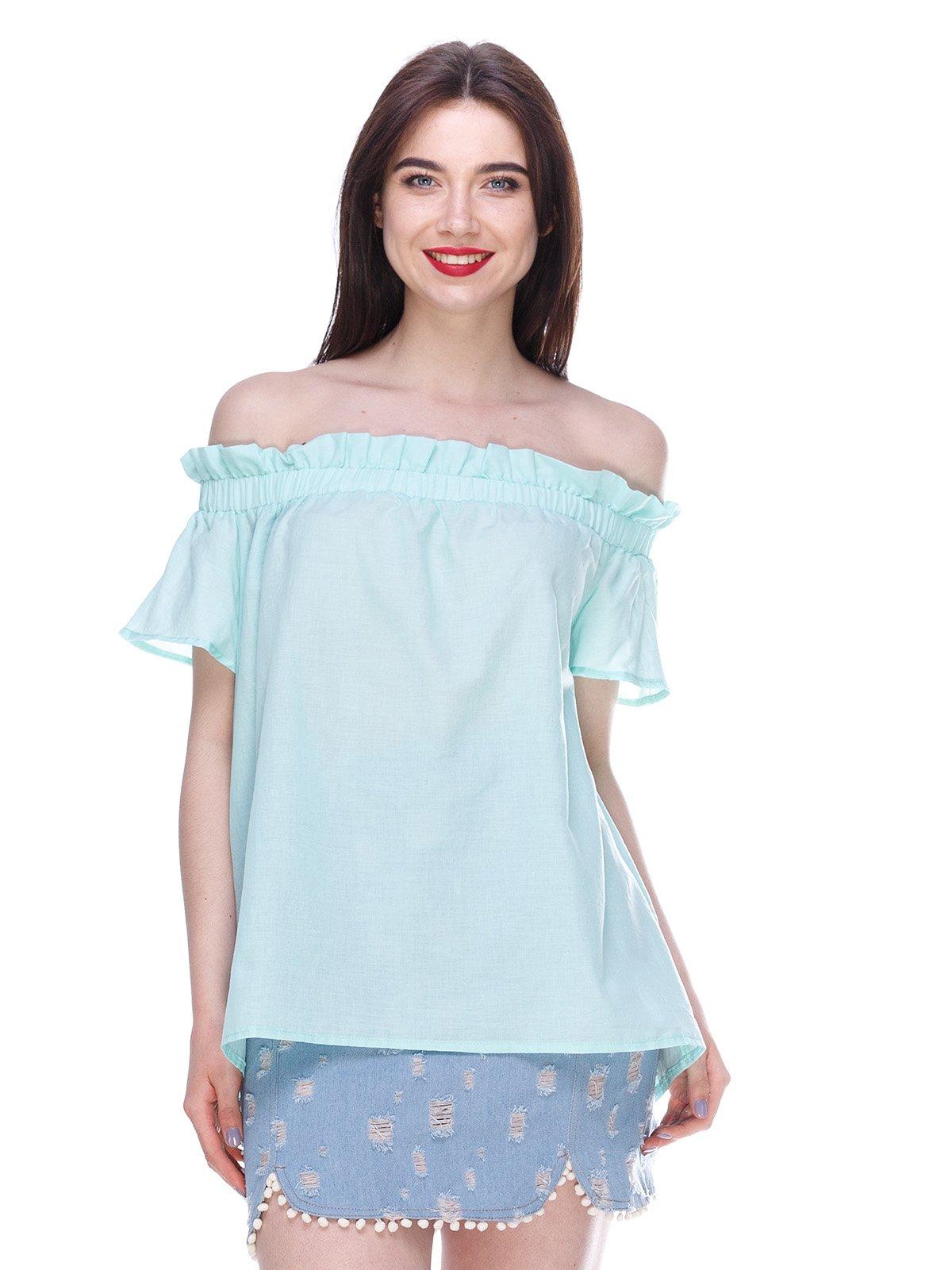Блуза м'ятного кольору | 3328781