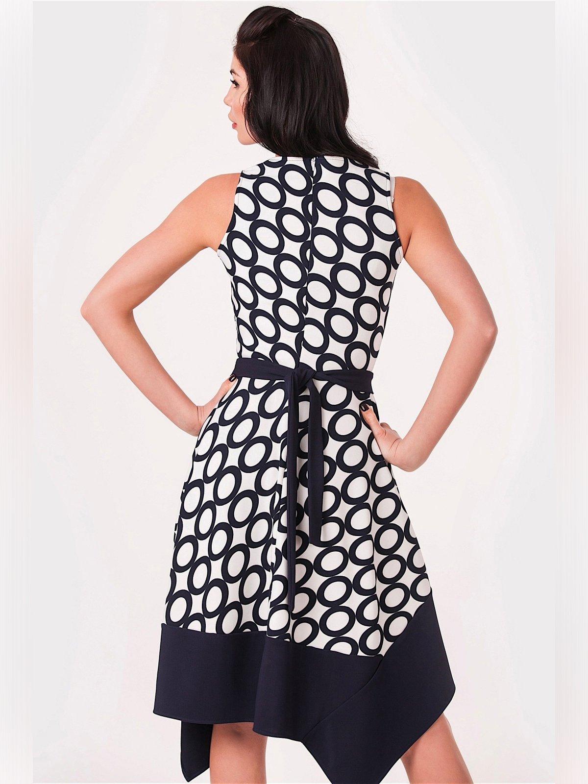 Платье черно-белое с принтом | 3343384 | фото 2