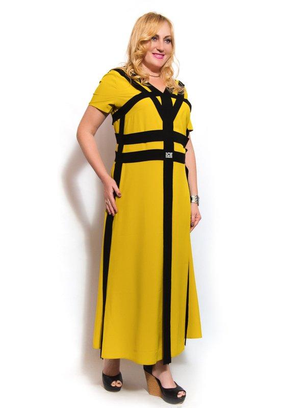 Платье горчичного цвета | 3312437