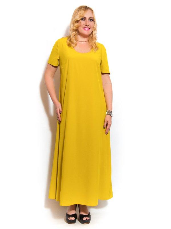 Платье горчичного цвета | 3312437 | фото 2