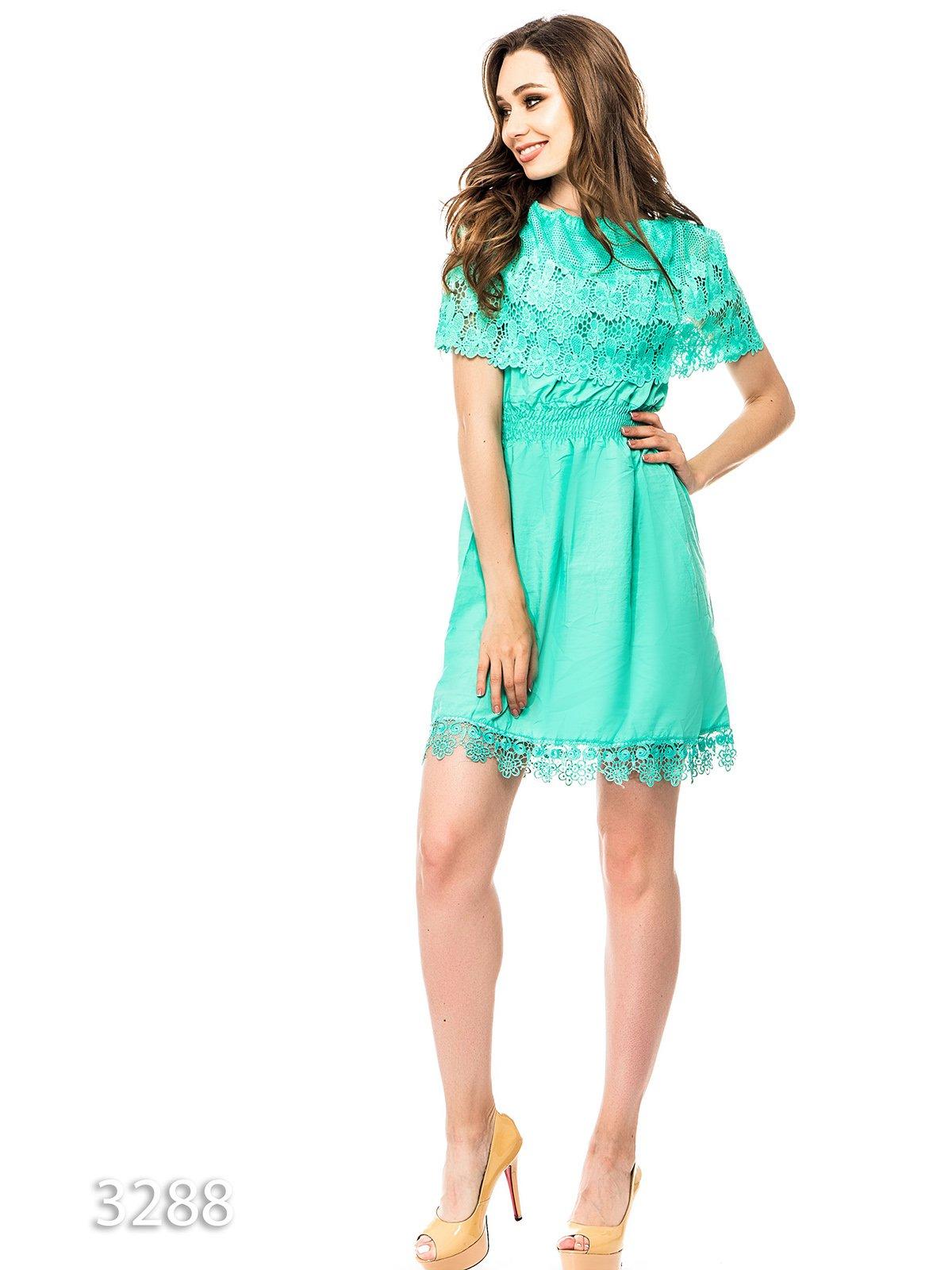 Платье мятного цвета | 3352620