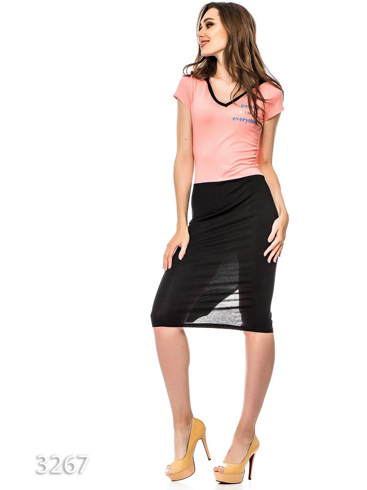 Платье черно-розовое | 3352669