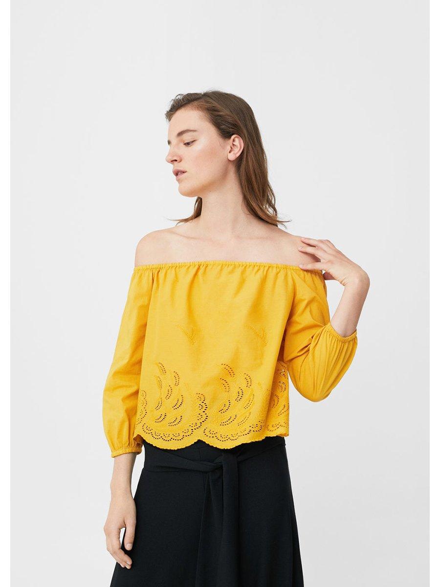 Блуза горчичного цвета   3313783