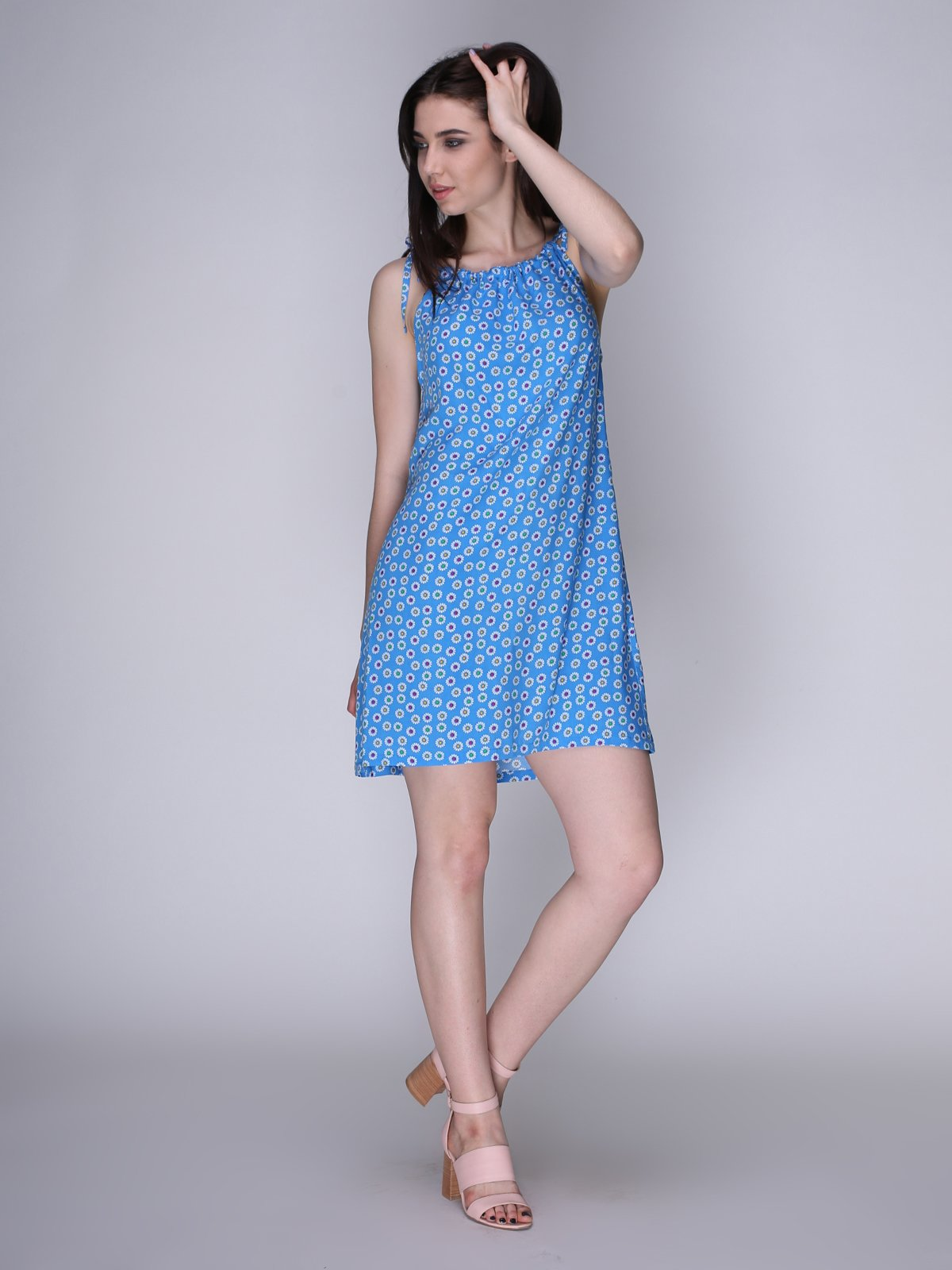Сукня блакитна в квіти   3365839