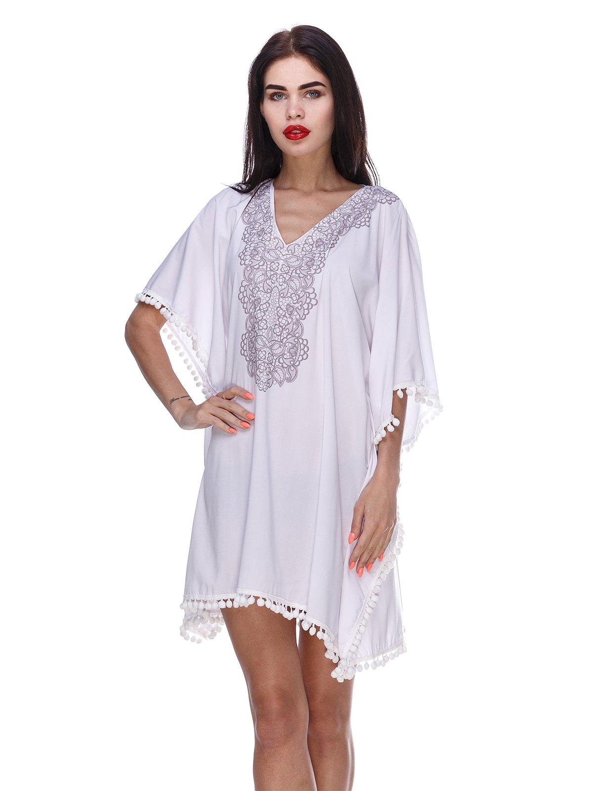 Сукня біла в етнічному стилі | 3366138