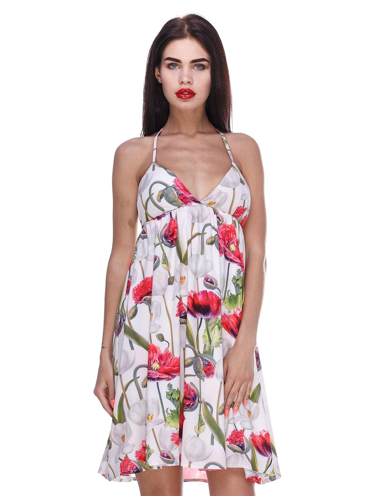 Сукня біла з квітковим принтом | 3366142