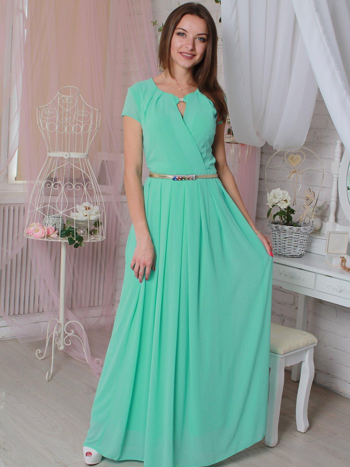 Платье ментолового цвета   3383922