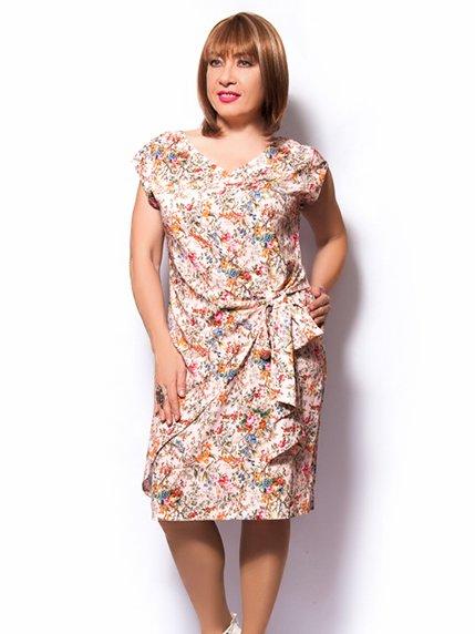 Платье розовое в цветочный принт   3384833