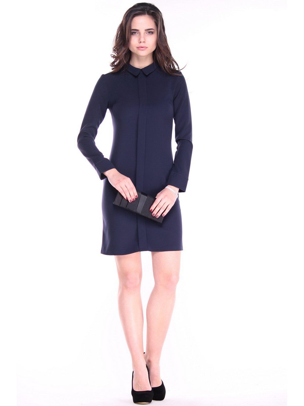 Платье темно-синего цвета | 2925437