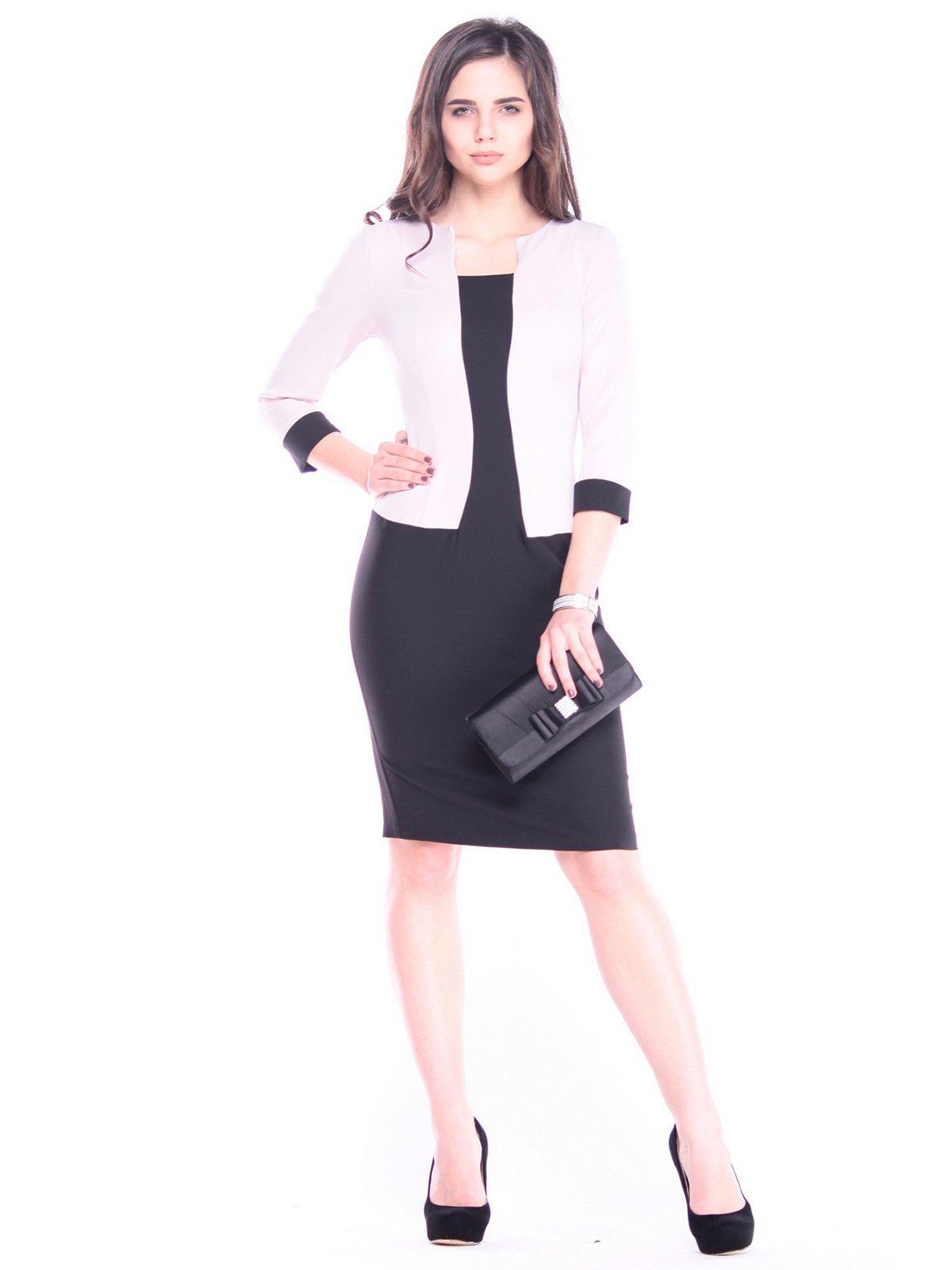 Сукня чорно-бежевого кольору | 3086086
