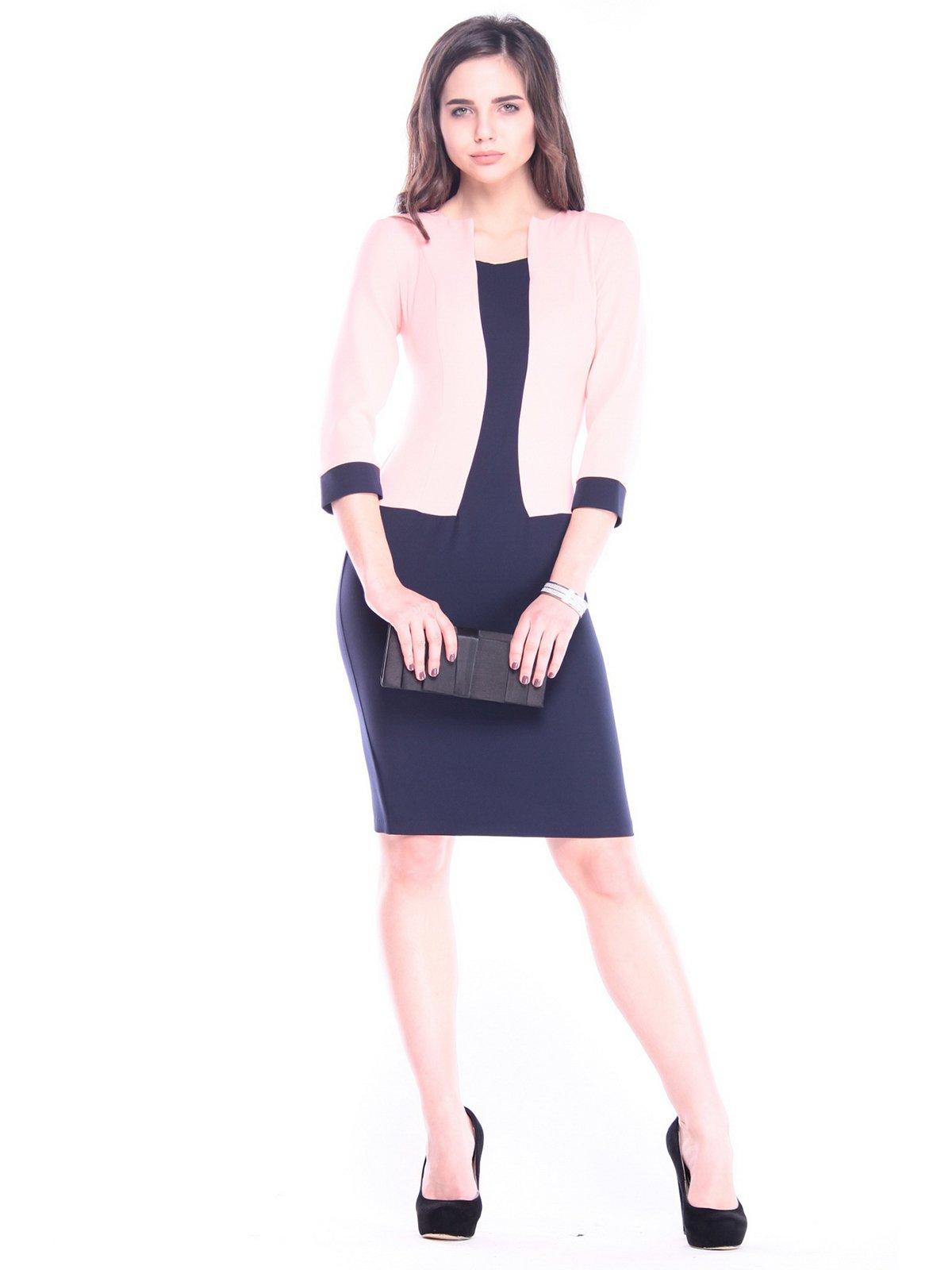 Сукня темно-синього кольору з персиковим   3086089