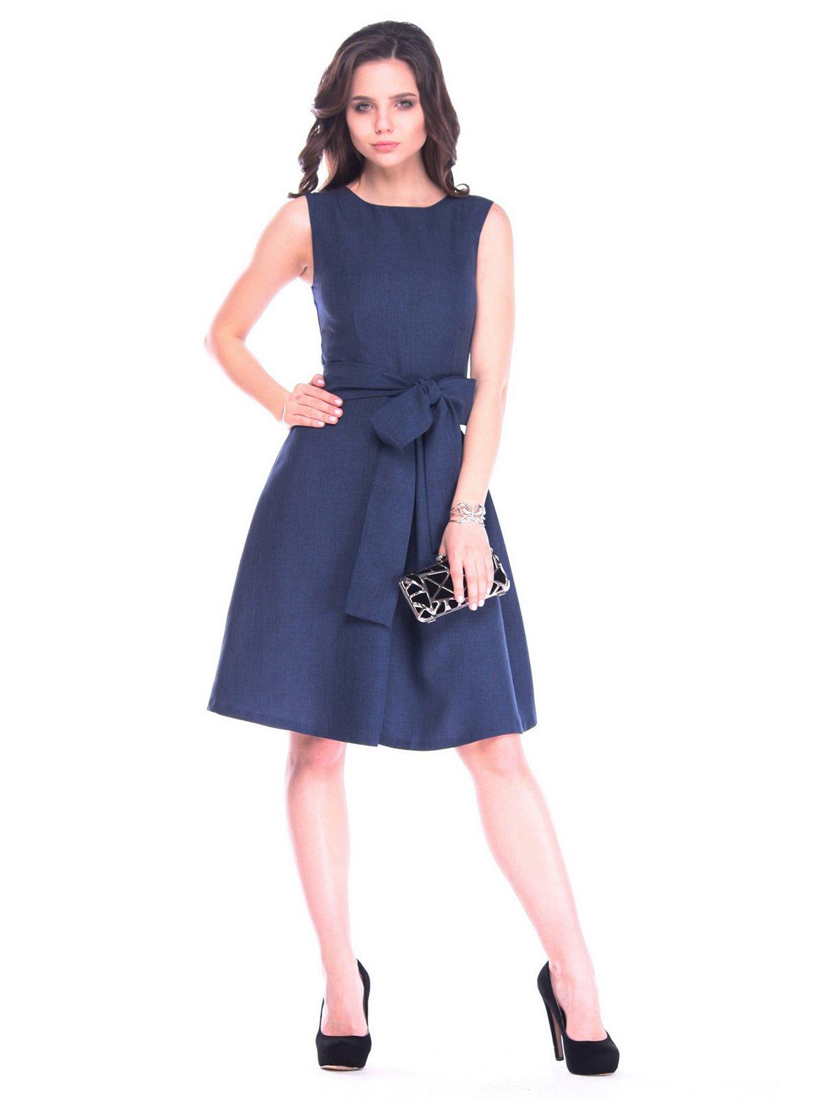Платье темно-синее | 3160475