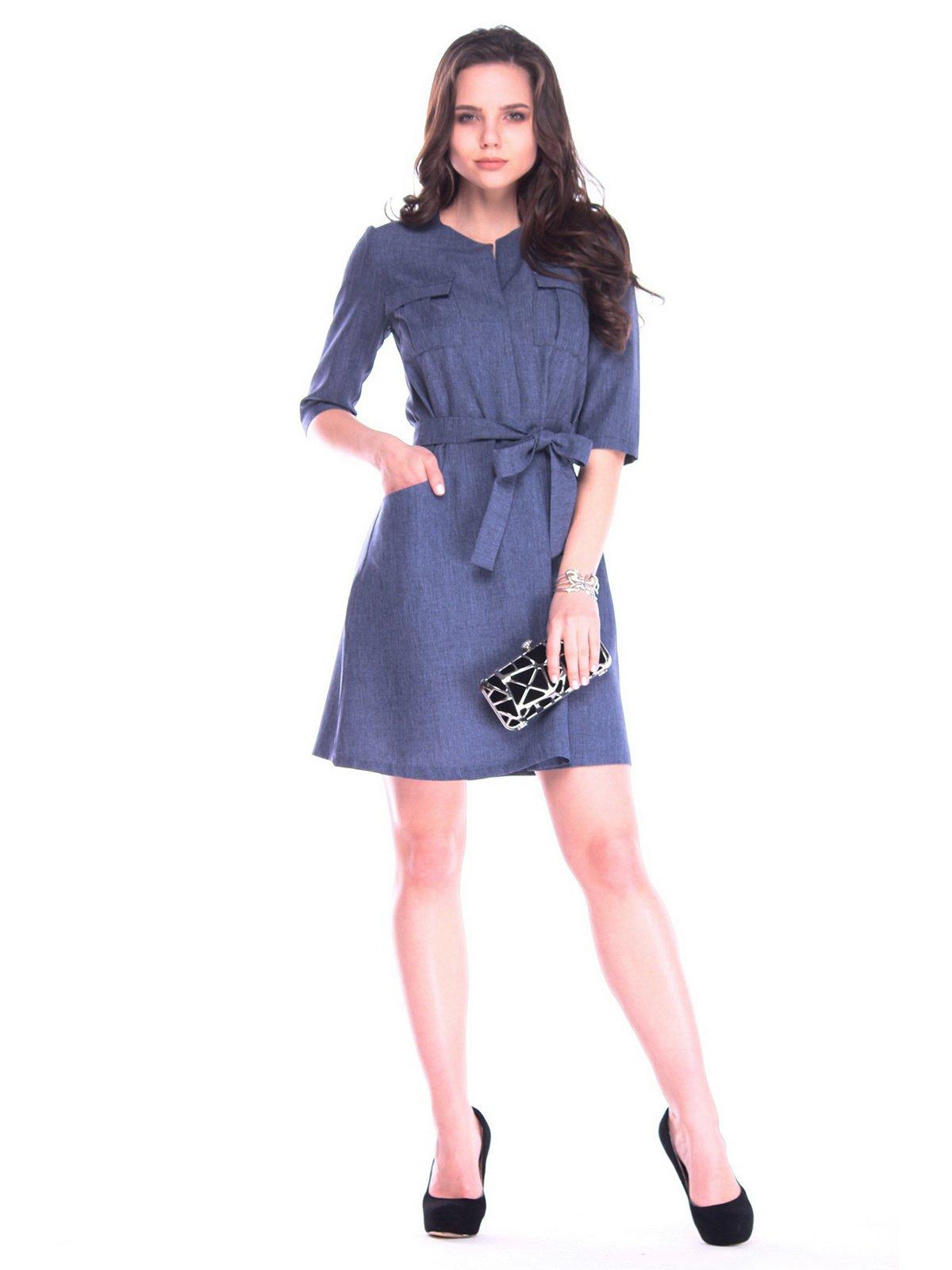 Сукня кольору темно-синій графіт | 3172709