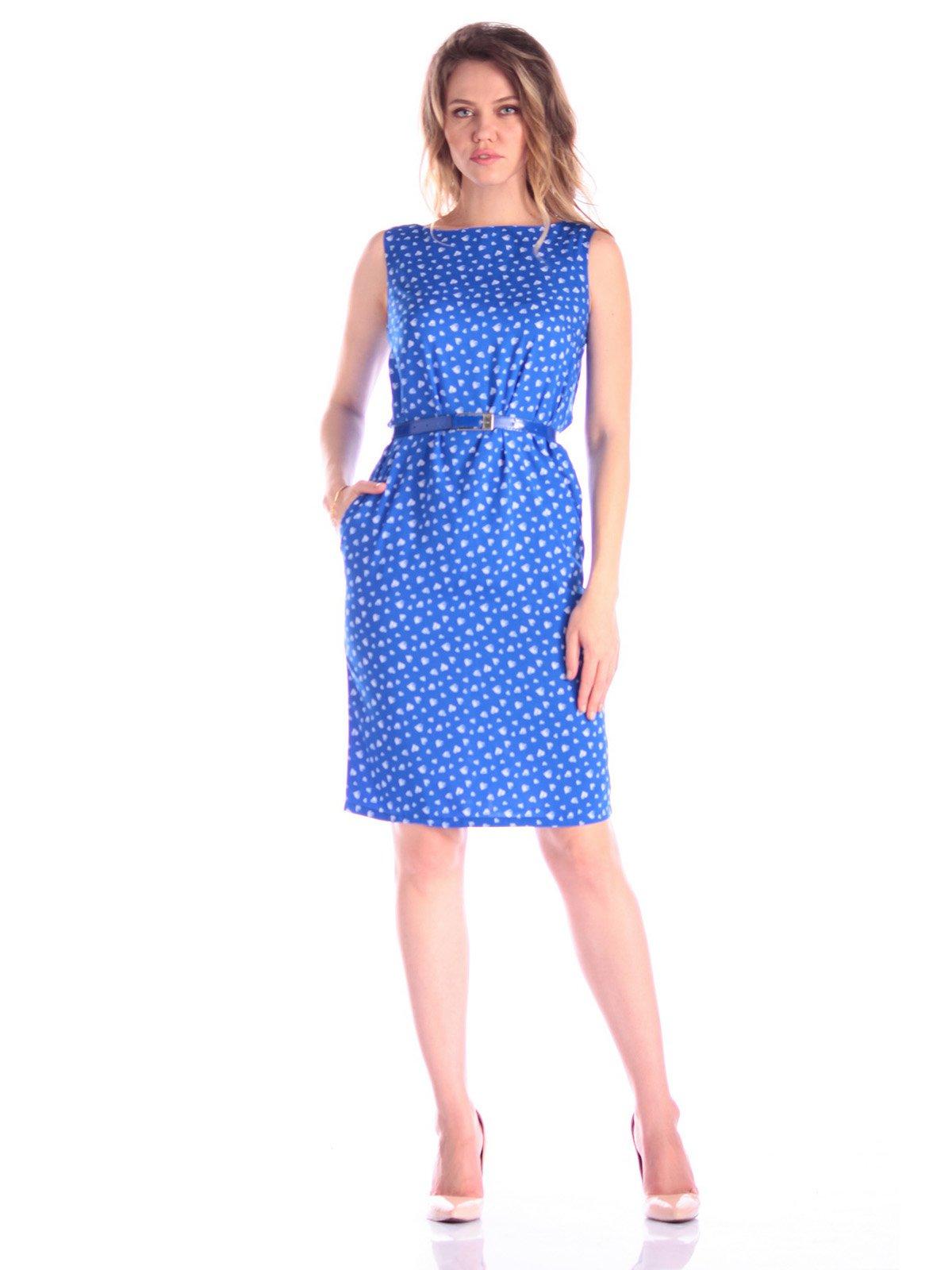 Платье синее в принт | 3388226