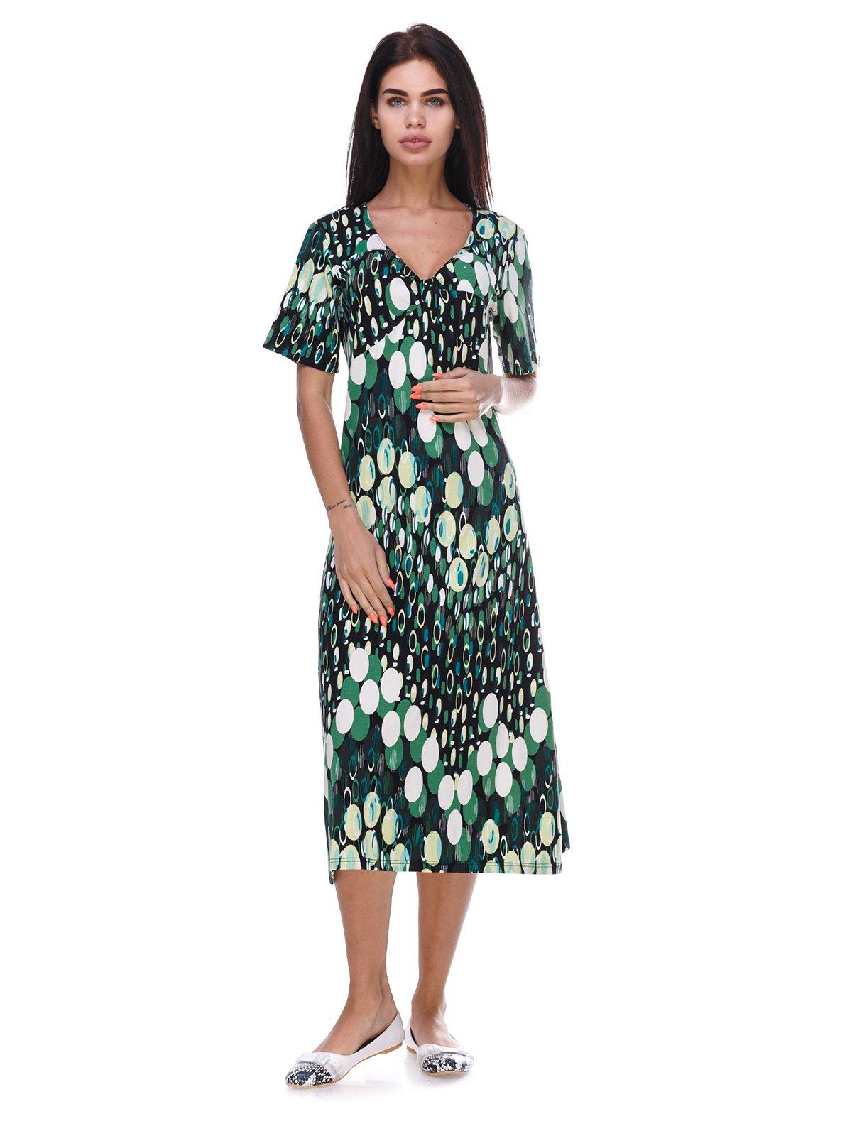 Сукня зелена в принт | 3387682