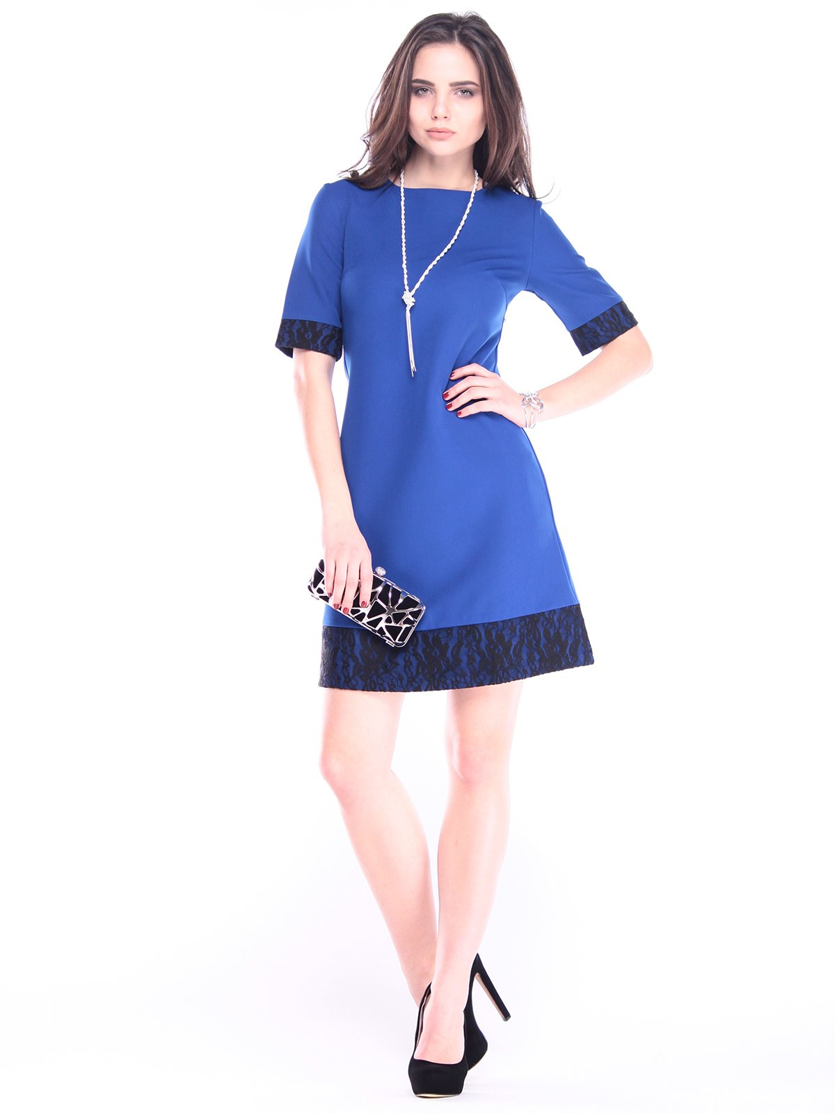 Сукня кольору електрик | 2962507