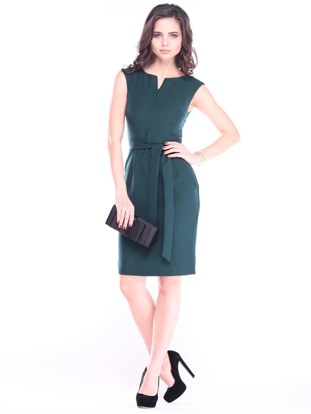 Платье темно-изумрудное | 2962547