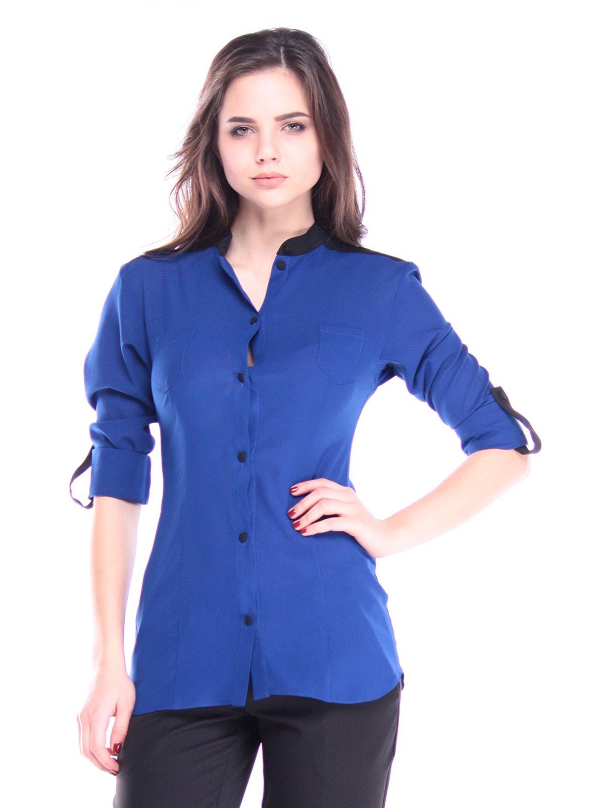 Блуза кольору електрик | 2962575