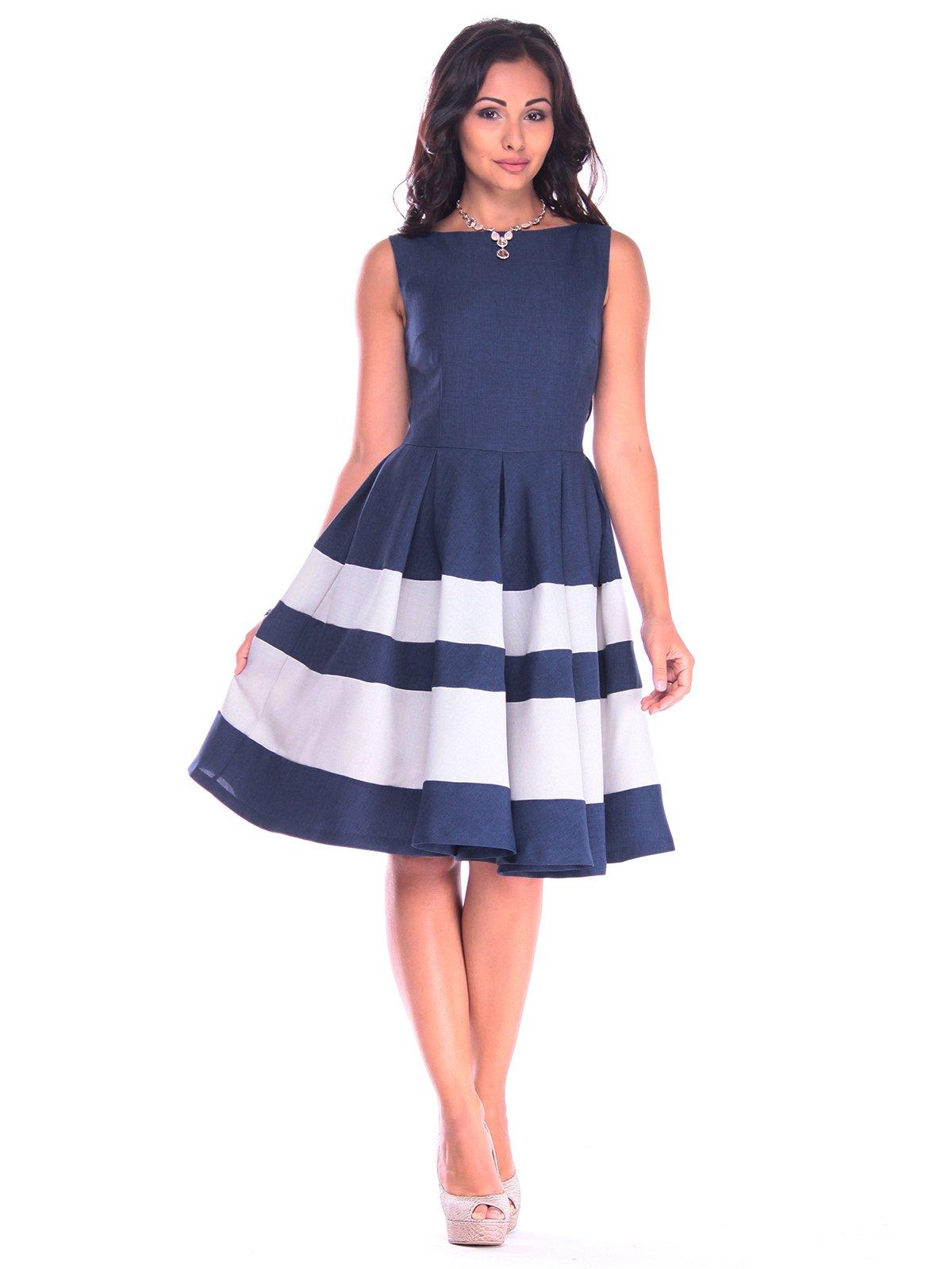 Платье сине-белое | 3218506