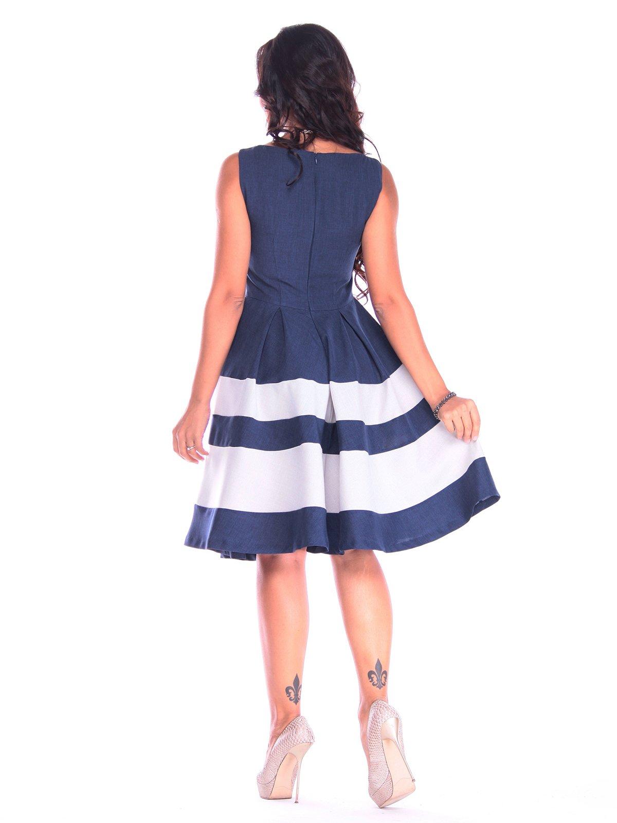 Платье сине-белое | 3218506 | фото 2