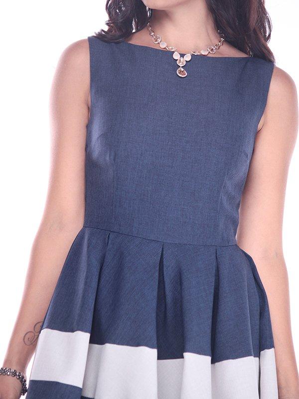 Платье сине-белое | 3218506 | фото 3