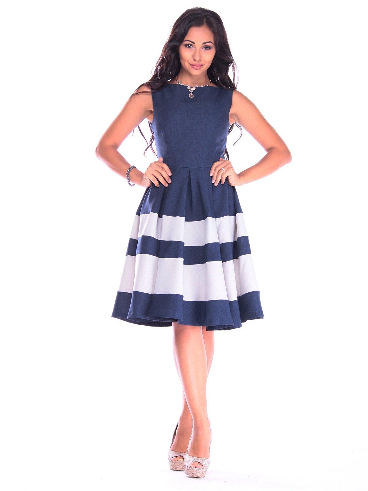 Платье сине-белое | 3218506 | фото 4