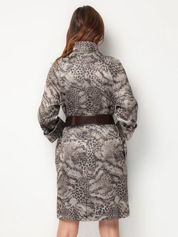 Пальто анималистической расцветки | 3369795 | фото 2