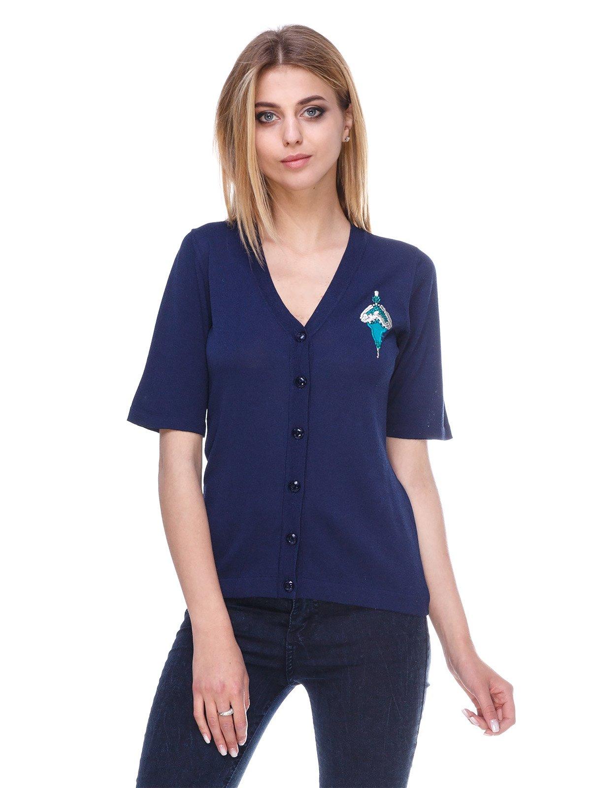 Кардиган синій | 3395500