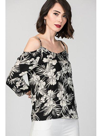 Блуза в квітковий принт | 3375348