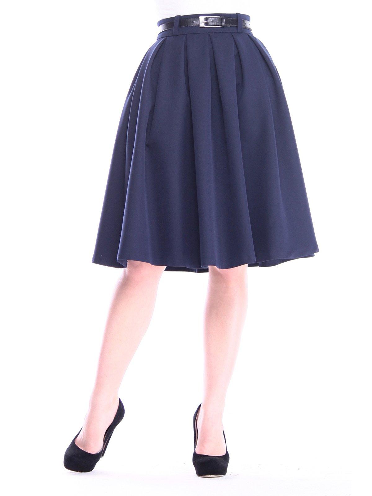 Спідниця темно-синя | 3091304