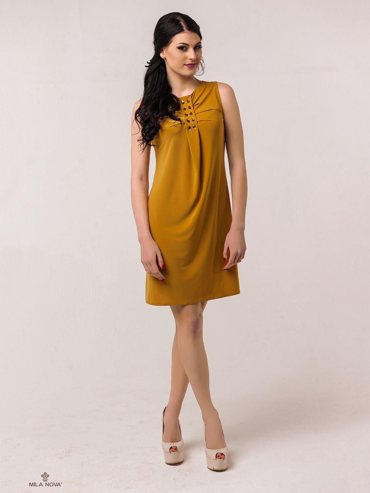 Сукня гірчичного кольору   2386042   фото 3