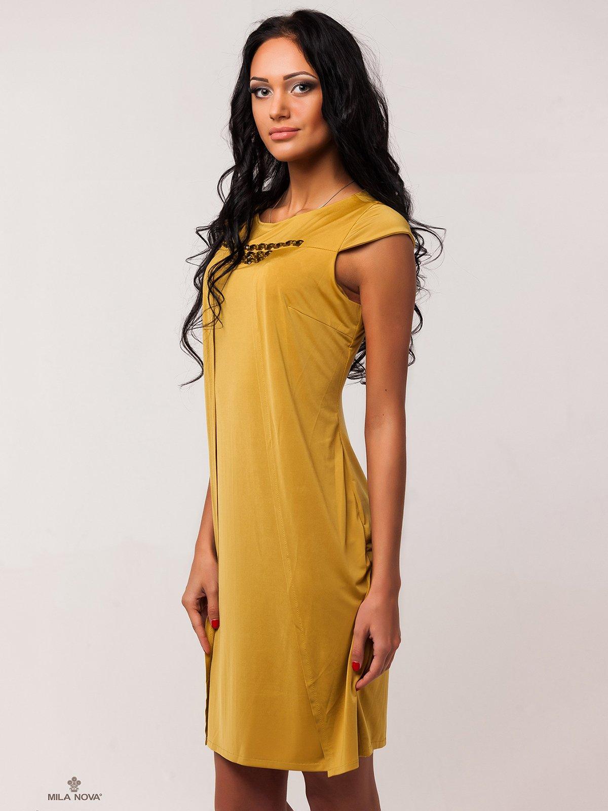 Сукня гірчичного кольору   2386060