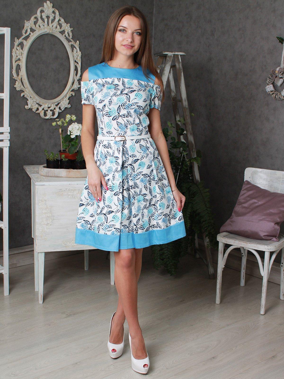 Платье белое в принт | 3405921