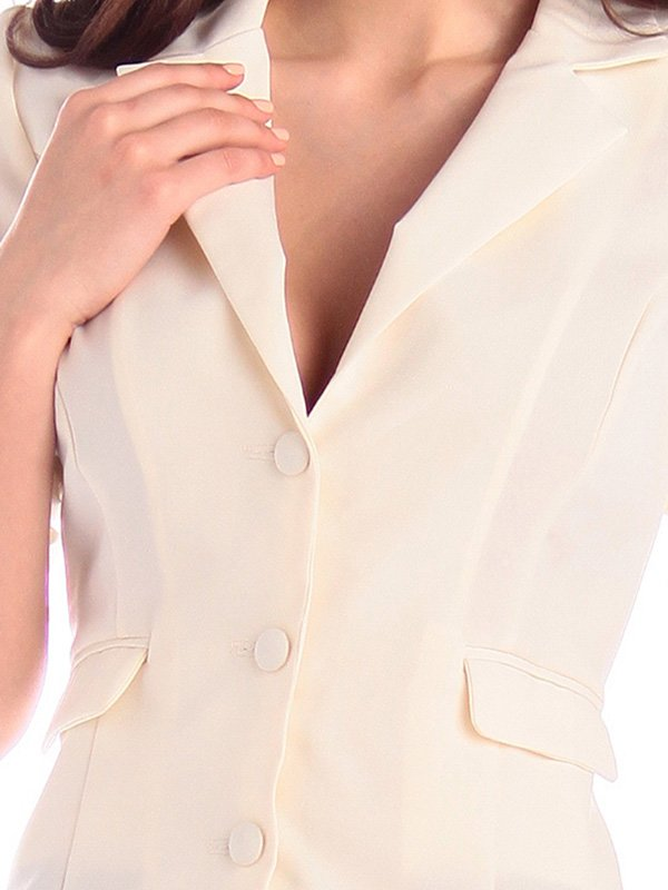 Жакет молочного цвета | 3400737 | фото 3