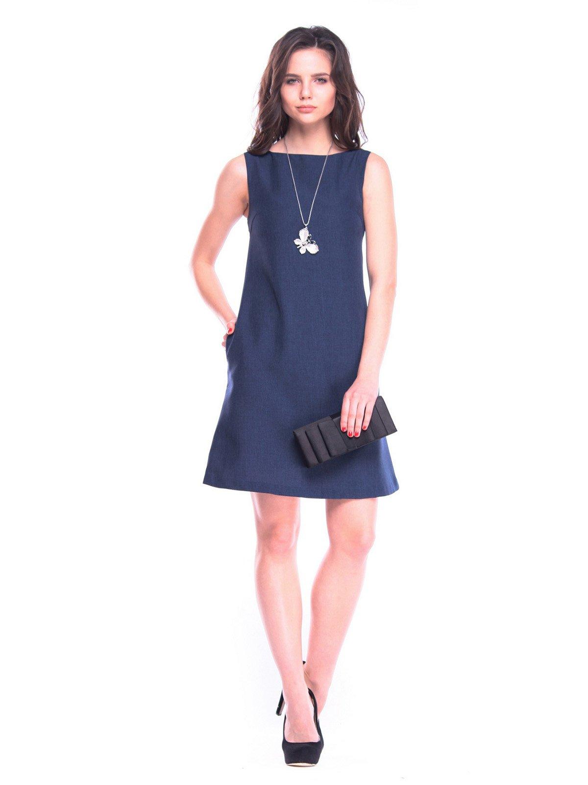 Сукня-сарафан темно-синього кольору   3323260