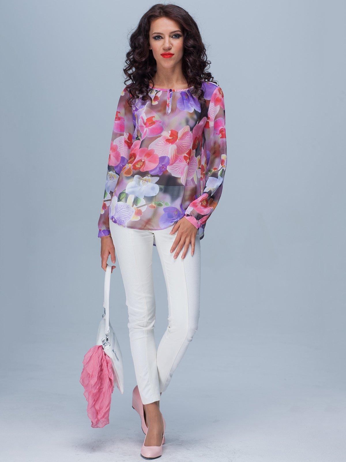 Блуза в яркий принт | 3204875
