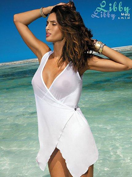 Туніка пляжна біла   3414379